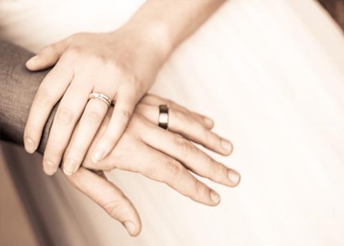 Ritual de boda de las manos