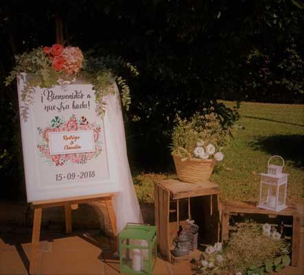 cartel de bienvenida rincon boda