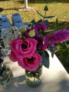 centros de mesa boda rosa