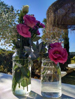 centros de mesa boda rosa buganvilla