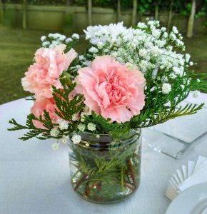 ideas para centros de mesa rosa