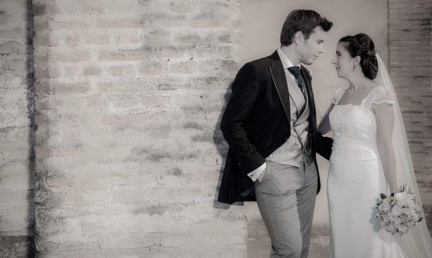 fotos novios boda mirada