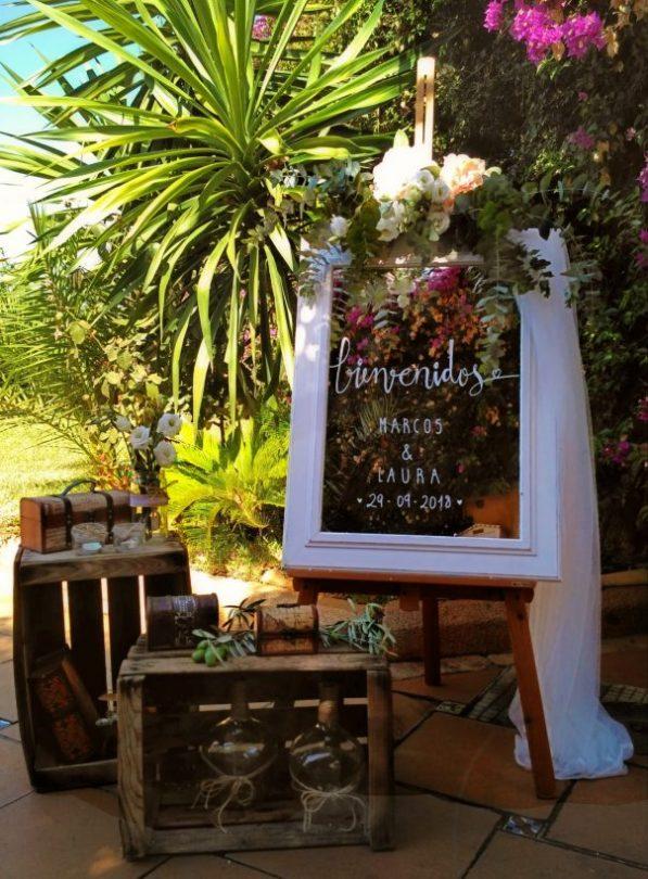 ideas para rincon de bienvenida boda