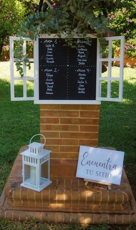 ideas originales seating plan pizarra